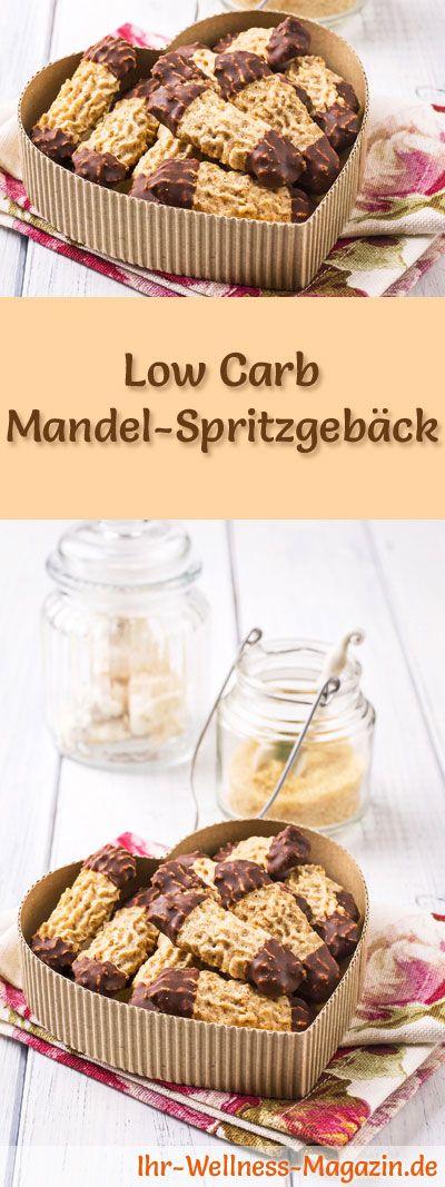 Low Carb Mandel-Spritzgebäck - einfaches Plätzchen-Rezept für Weihnachtskekse #plätzchenrezept