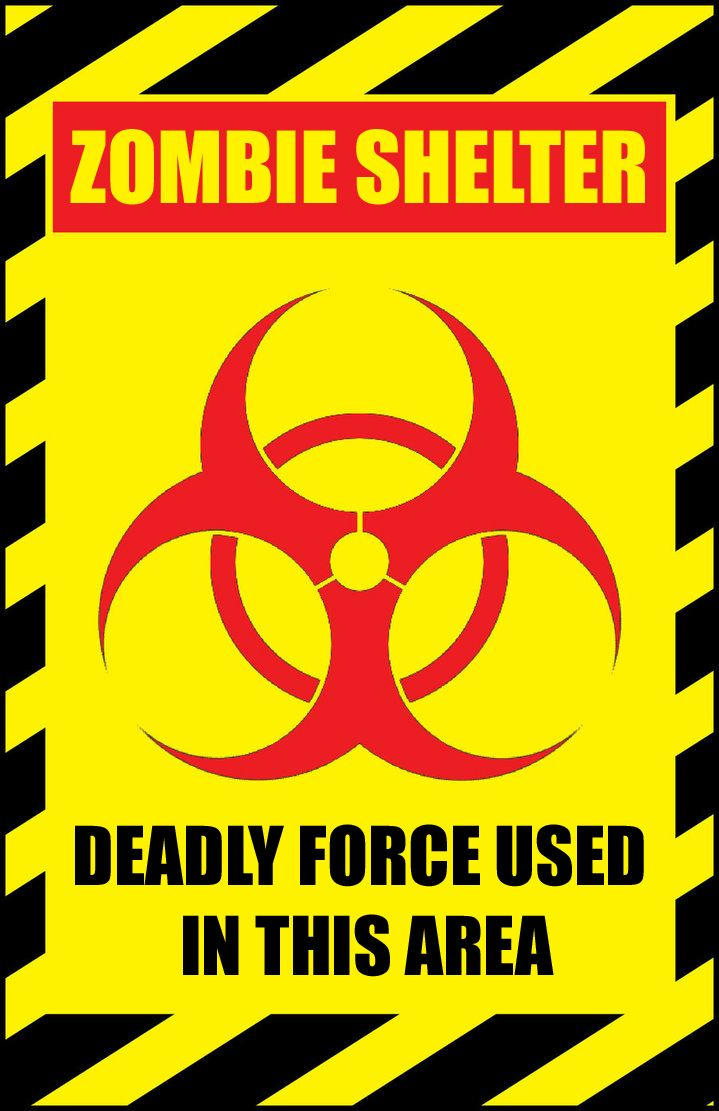 image about Quarantine Sign Printable named printable zombie shelter lethal strain signal carried out within just photoshop