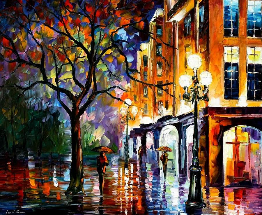 Rain In Miami -  by Leonid Afremov