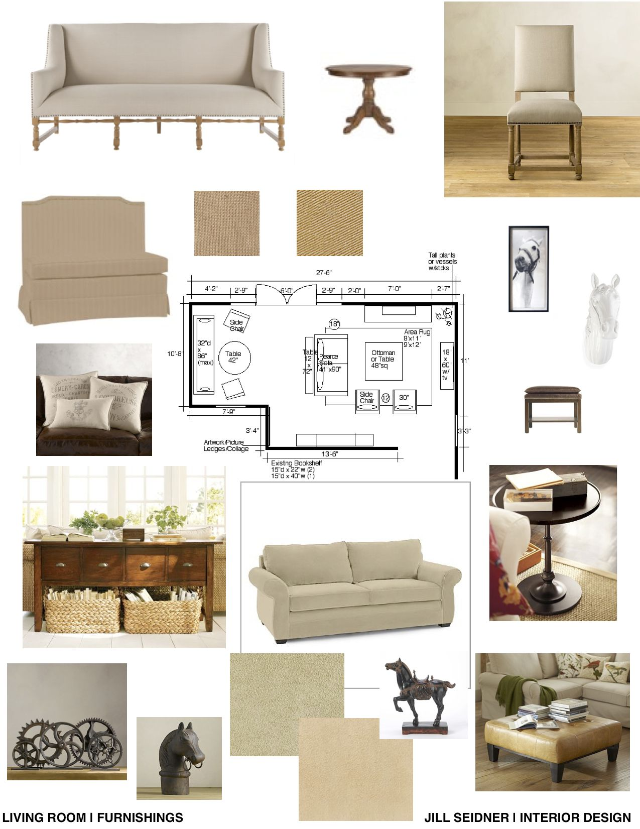 Concept Board For Living Room Furnishings Interior Design Tools Interior Design Boards Inspiration Board Design