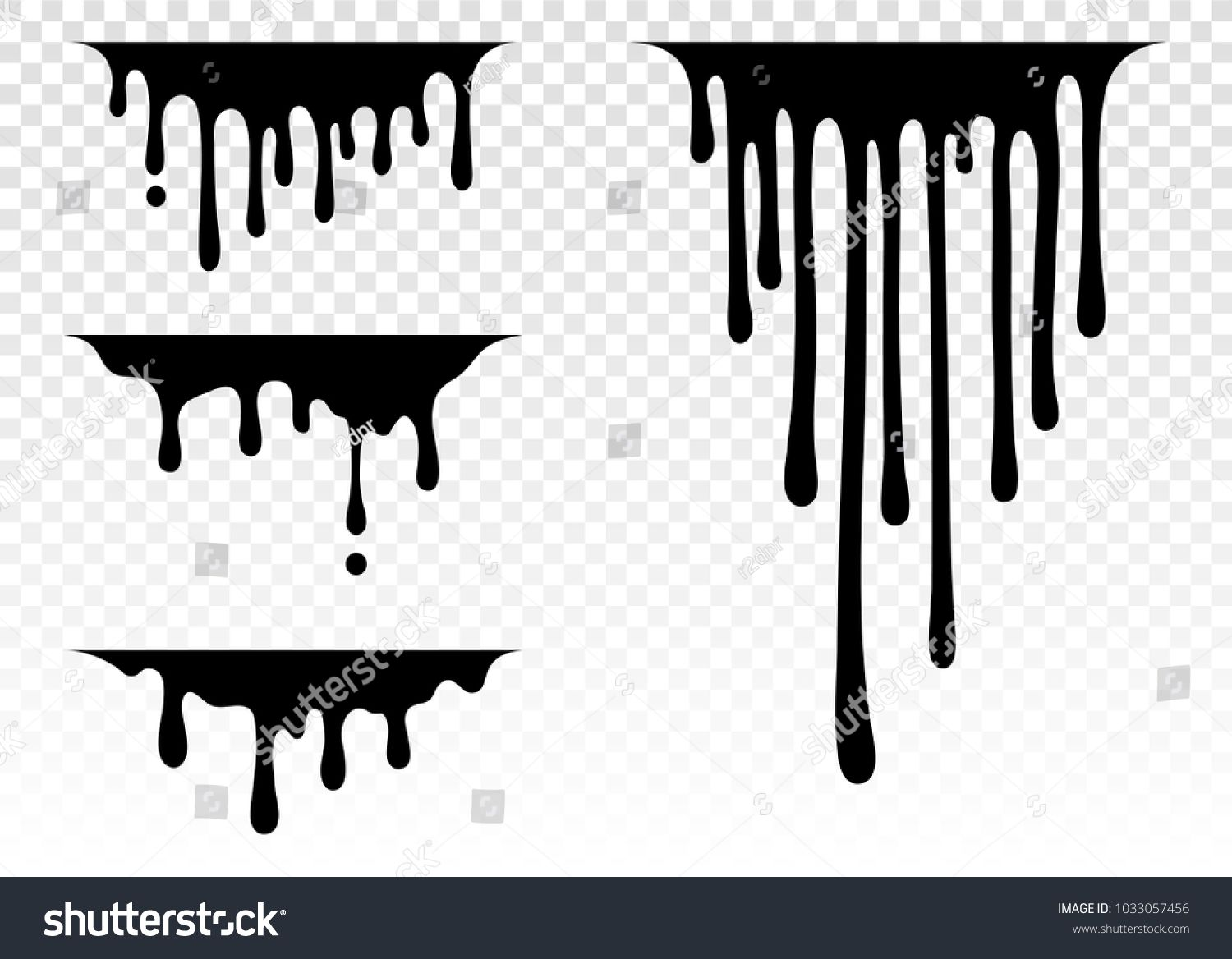 Current Paint Stains Current Drops Current Inks Paint Dripping Dripping Liquid Paint Flows Vect Dripping Paint Art Black Colour Background Drip Painting