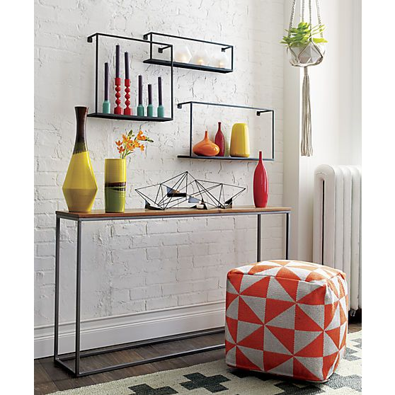 Set Of 3 Iron Floating Shelves Reviews Floating Shelves Living