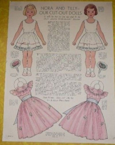 10 NORA & TILLY PAPER DOLL PAGES WOMENS & HOME MAG. (04/07/2010)