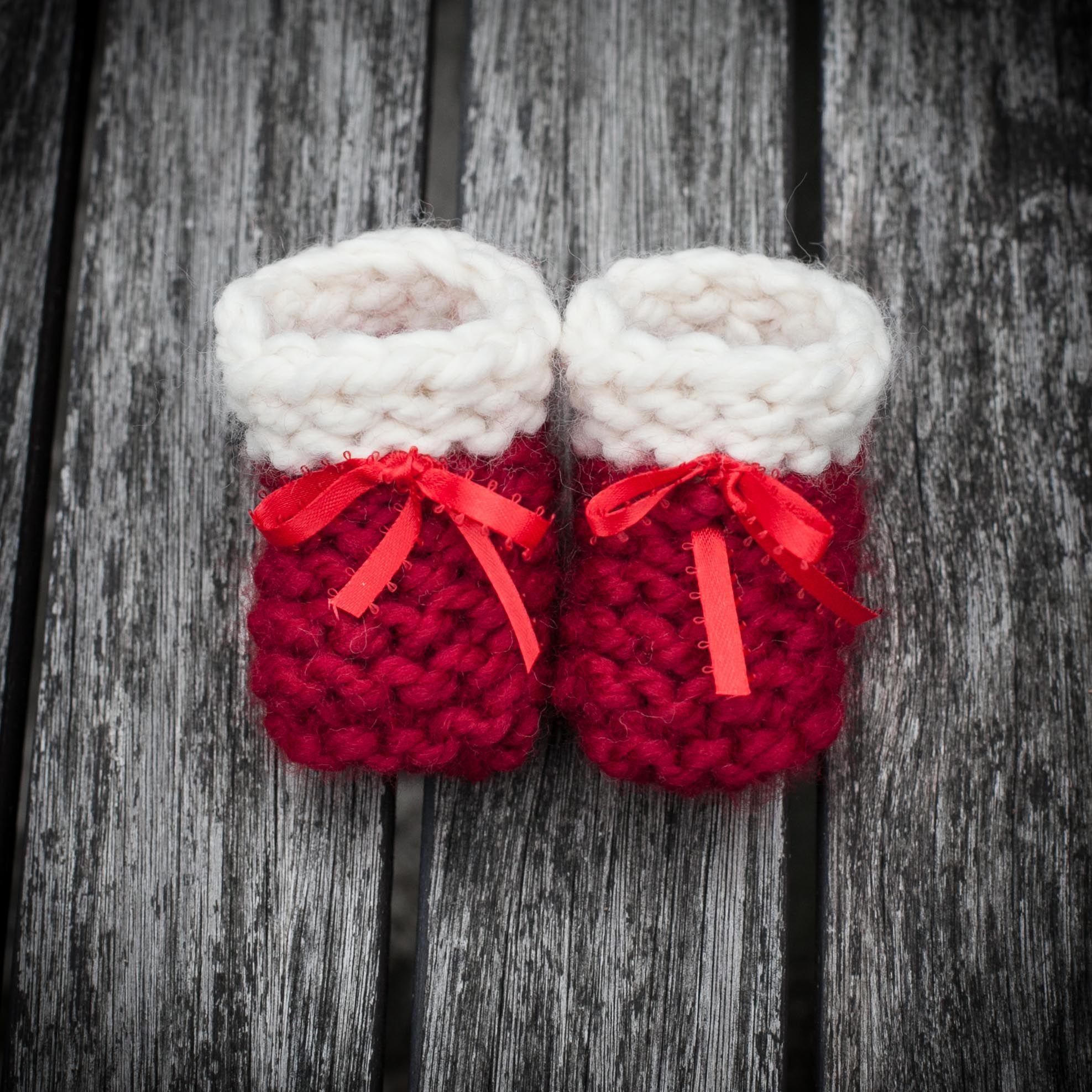 Loom Knit Baby Booties Shoes PATTERN Beginner Friendly Garter