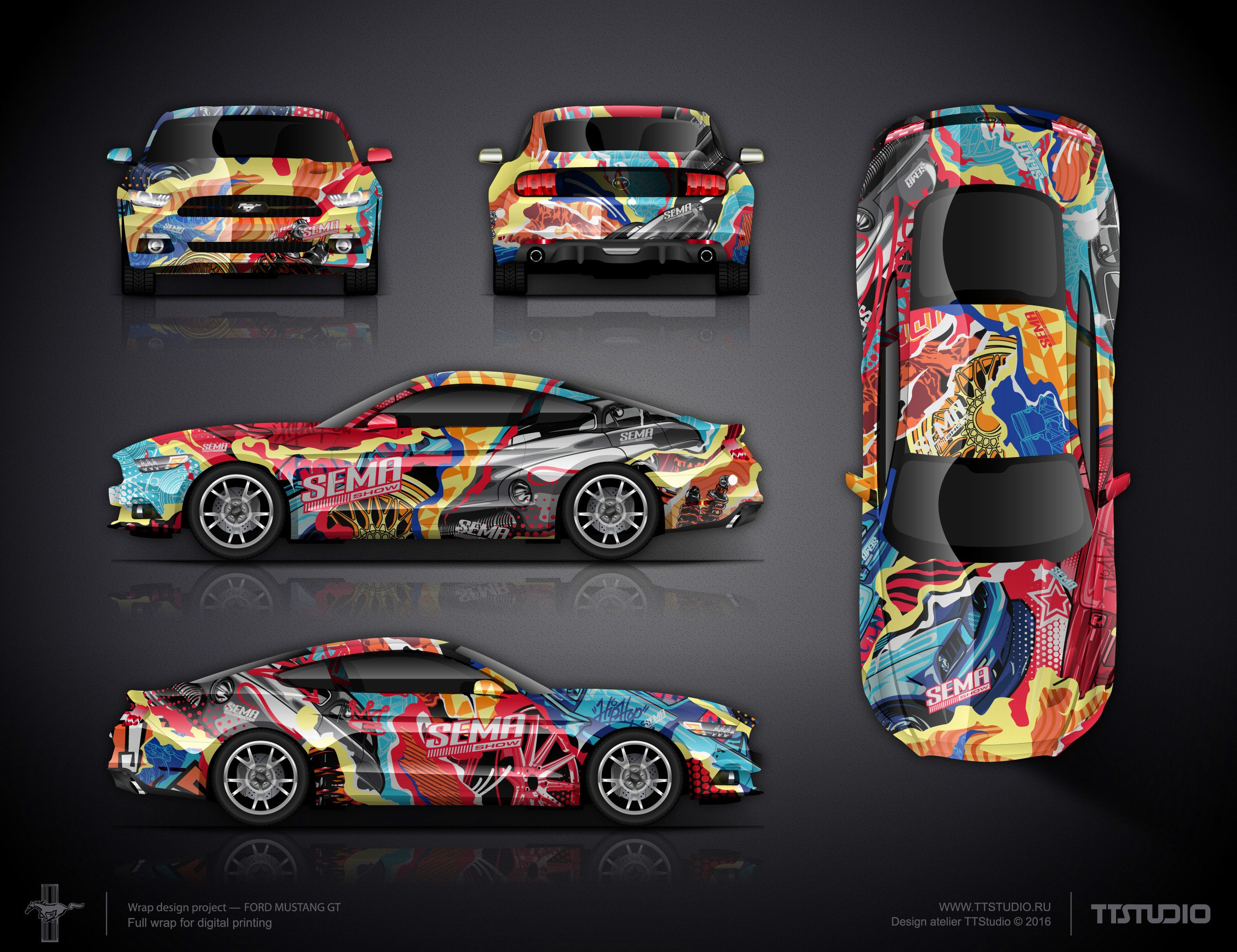 Design car wrap - Our Design Adapted For All Sides For The Big Reveal Wrap Design Challenge