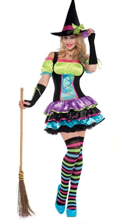 Preferenza Costume strega colorata | Costumifavoletravestimenti  MM33