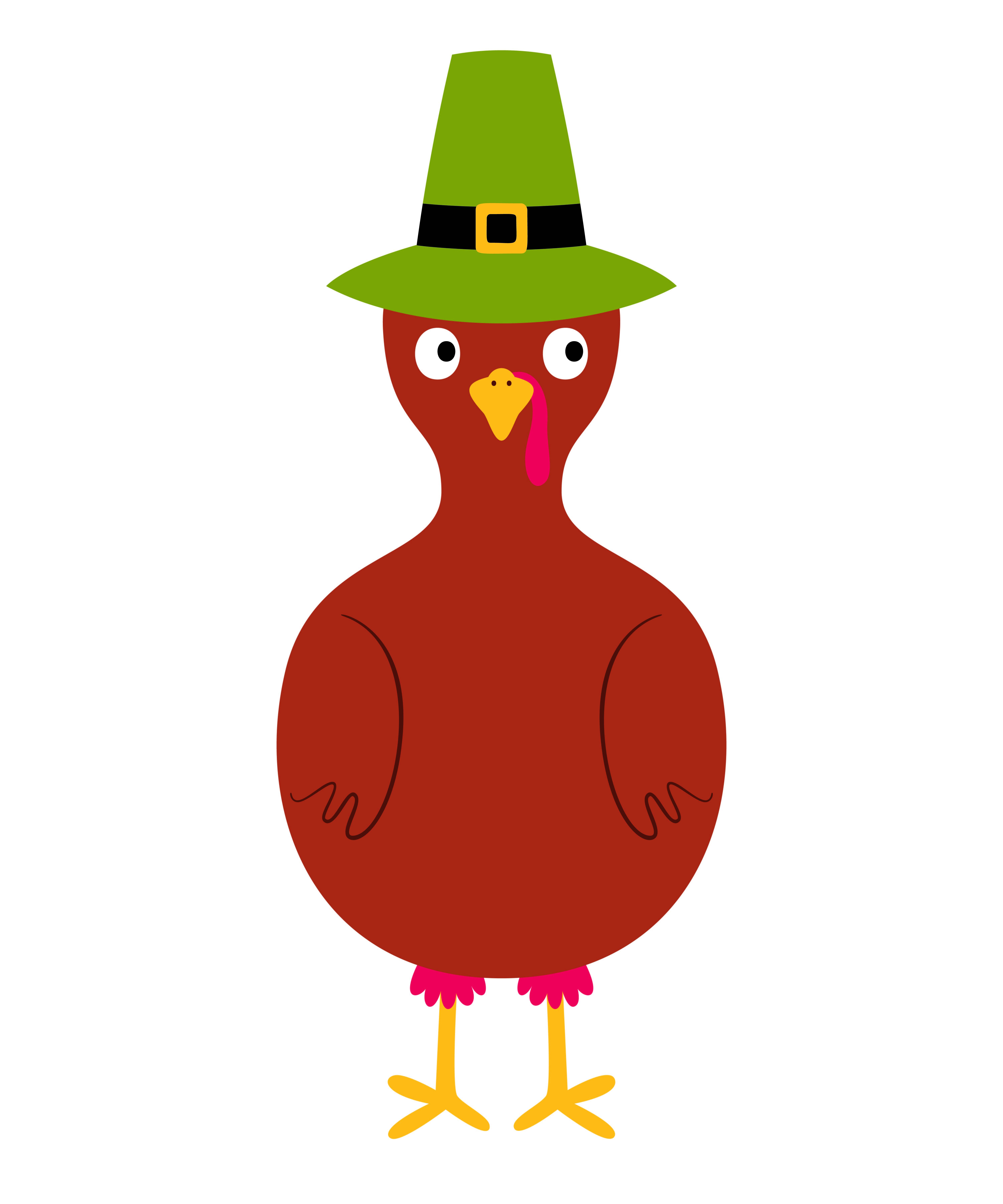 Turkey Coloring Page without Feathers in