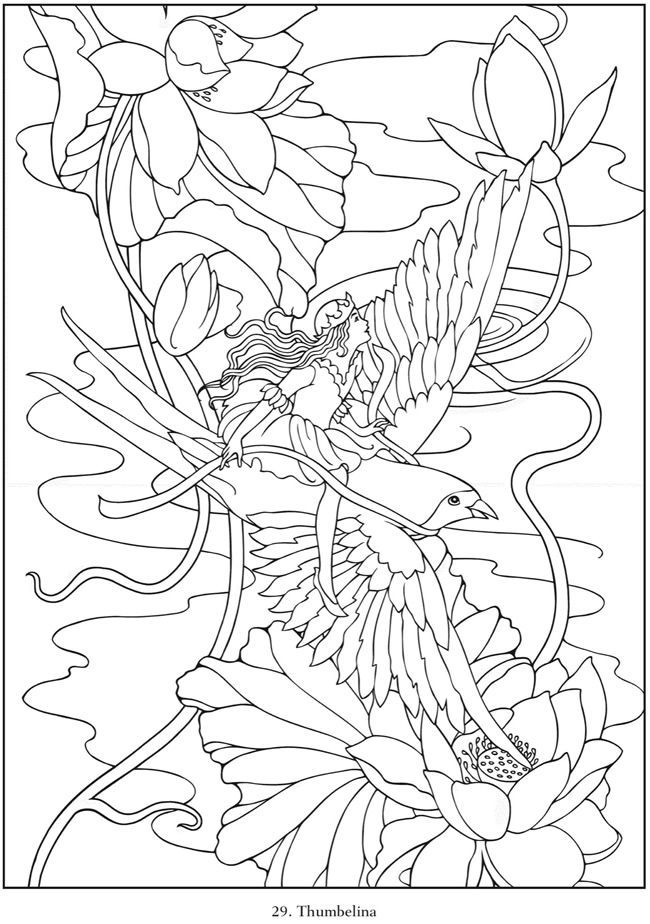 Fairy tale dover coloring pages