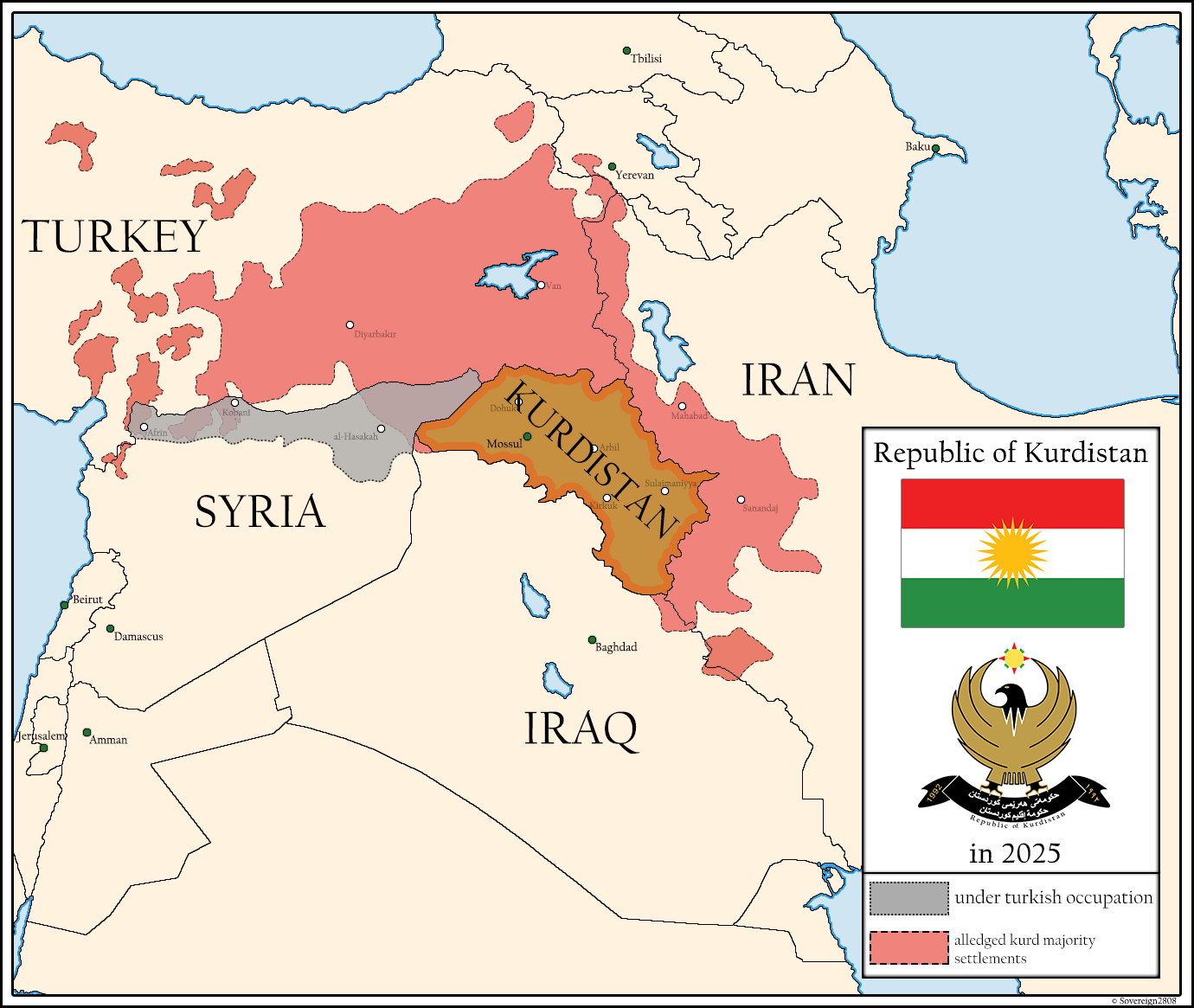 Kurdistan 2025 by Sovereign2808 | Infographic | Map, Fantasy map ...