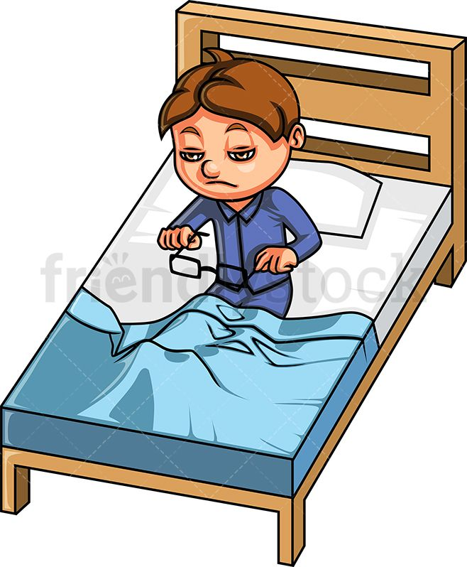 Boy Waking Up Cartoon Clipart Vector Friendlystock Cartoon Clip Art Children Illustration Cartoon Drawings