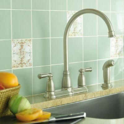 Moen Banbury High Arc 2 Handle Standard Kitchen Faucet With