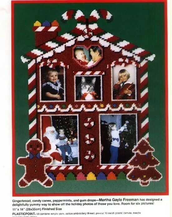 Gingerbread House Picture Frame 1 2 Plastic Canvas