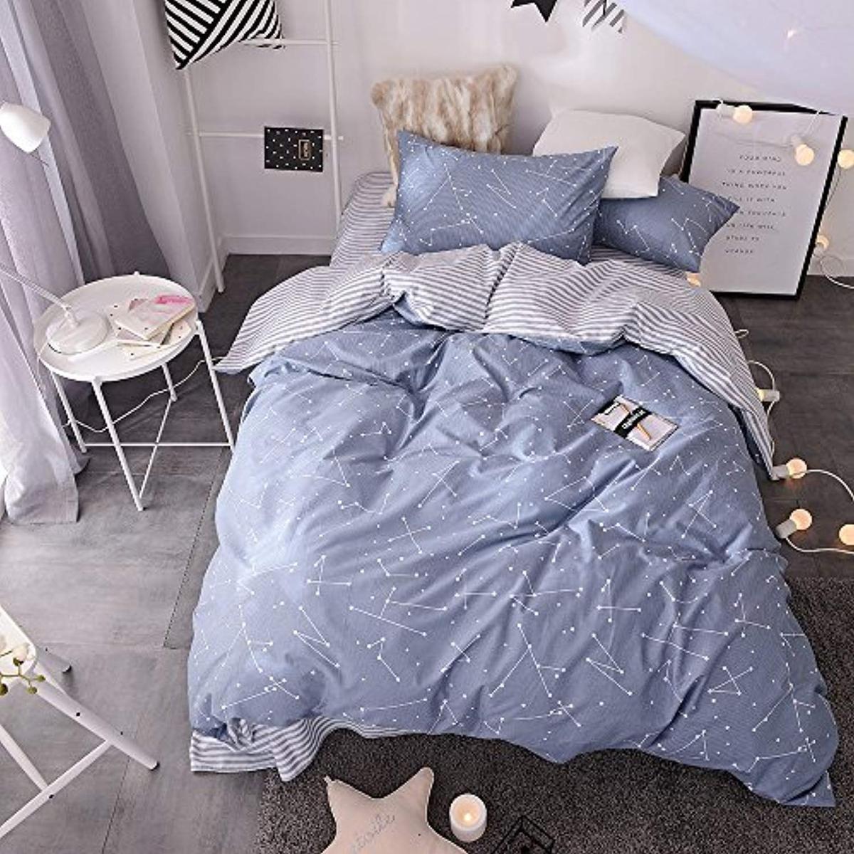 Blue Constellation Bed Set Dormvibes Bedroom Bedding Sets
