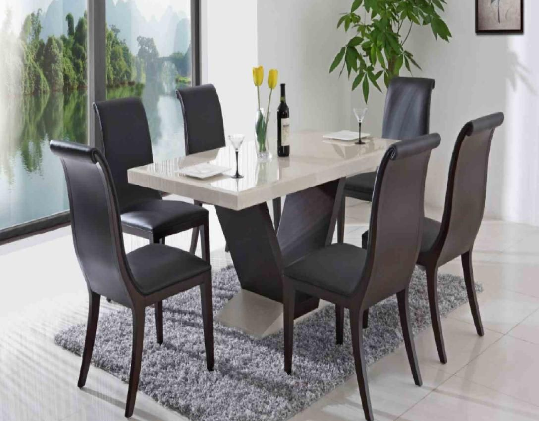 Modern Minimalist Ceramic Dining Room Table with