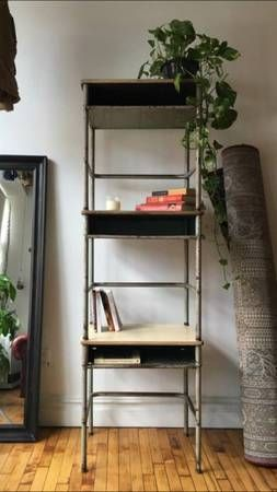 old school desks stacked on top of each other looks cool old rh pinterest com