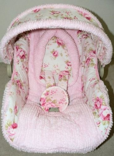 This is the custom cover I put on my Chicco infant car seat. Lucinda's covers are beautiful!