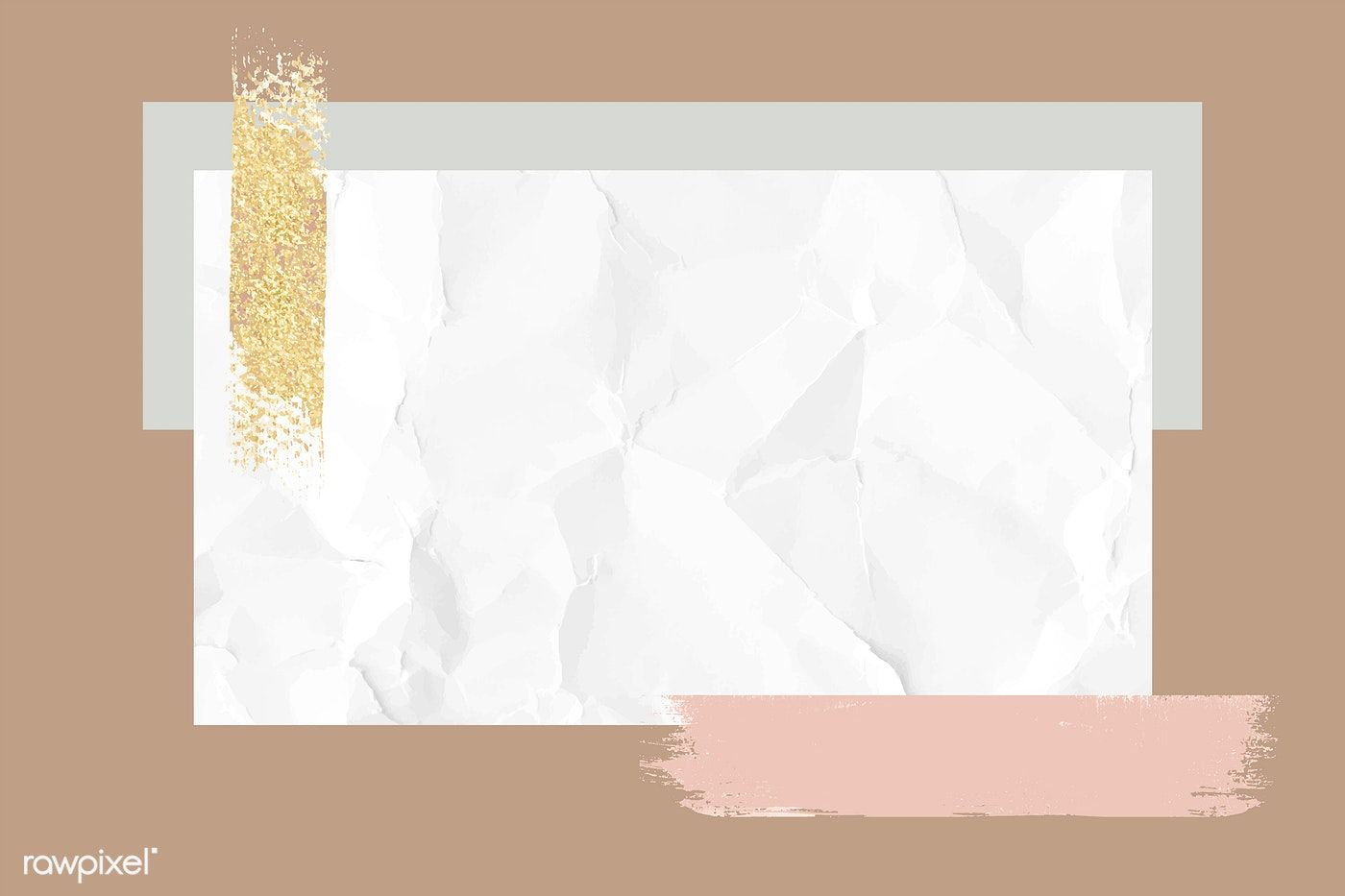 Download Premium Vector Of Crumpled White Paper Note With Brushstroke Note Paper Paper Background Texture Pastel Background Wallpapers