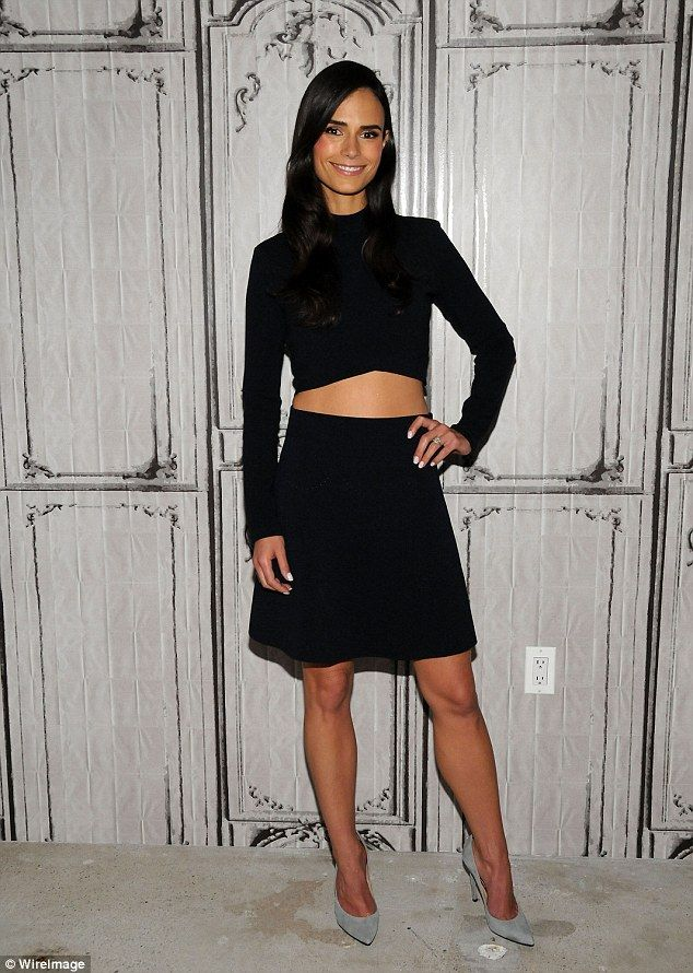 Back to black: Jordana Brewster turned up the heat in a little black number in New York on...