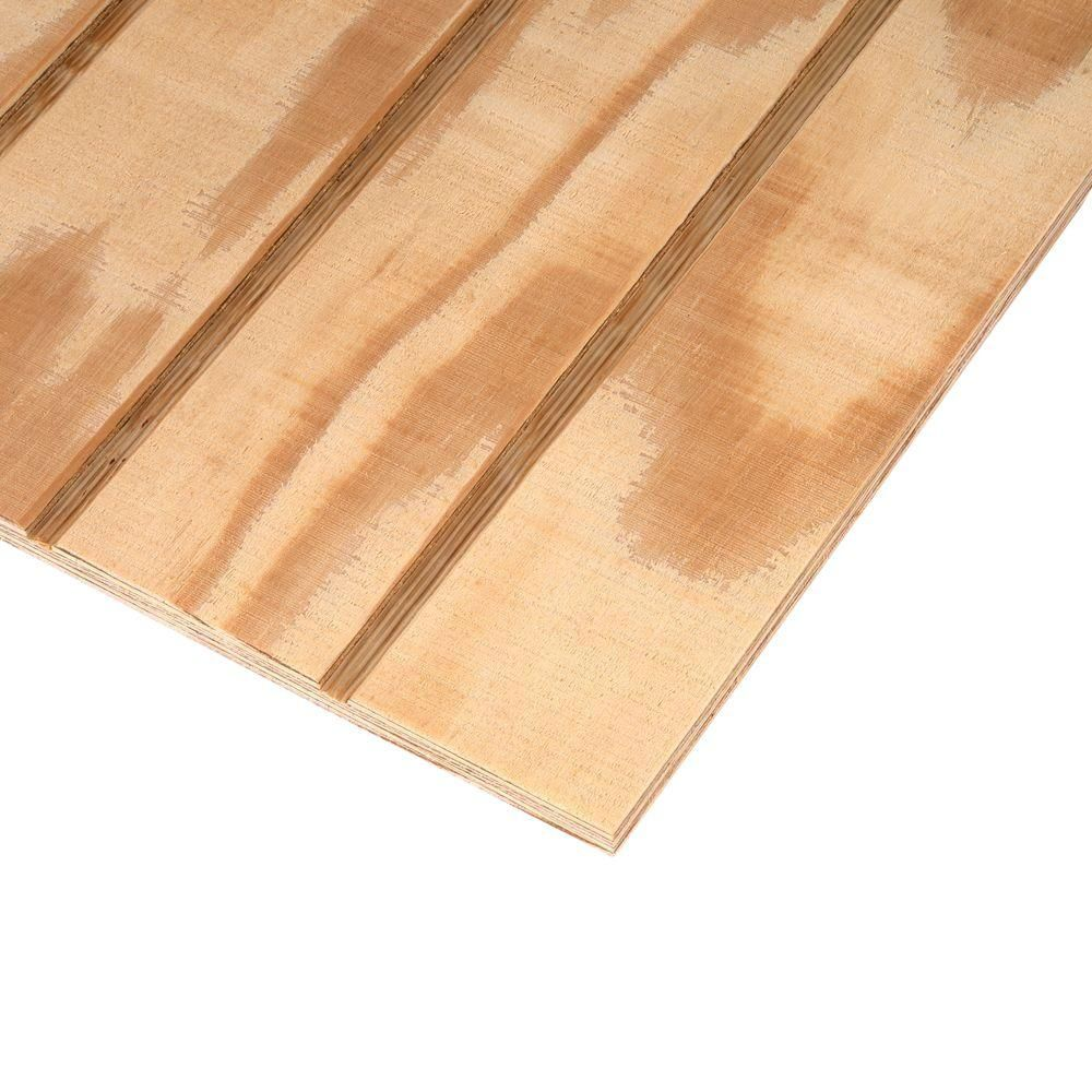 Unbranded Plywood Siding Panel T1 11 4 In Oc Nominal 19 32 In X 4 Ft X 8 Ft Actual 0 563 In X 48 In X 96 In 177189 The Home Depot Plywood Siding Panel Siding Exterior Siding