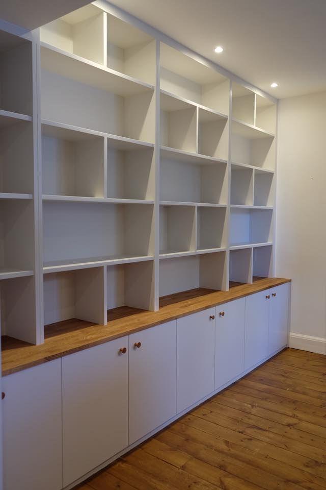 Bibliothèque | Meuble rangement salon, Idee deco mur salon, Étagère bibliothèque murale