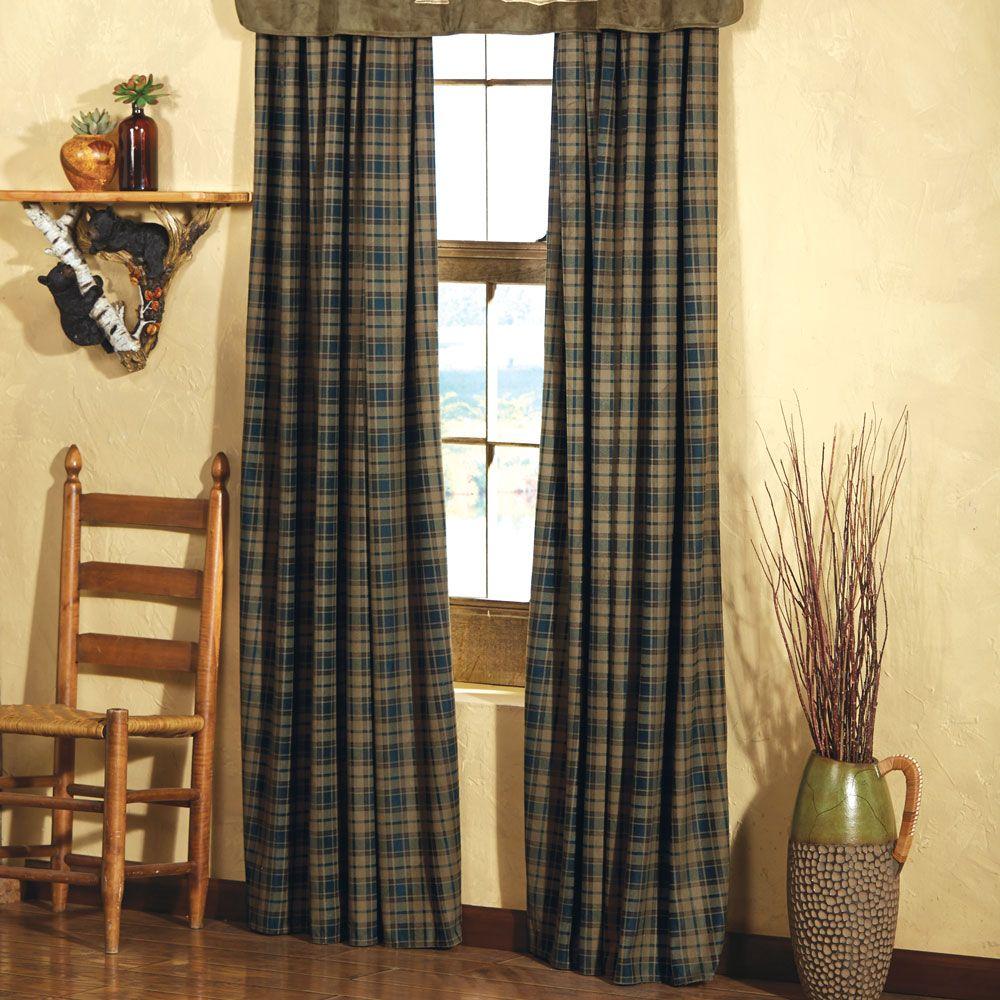 Kodiak Lodge Drapes Clearance Rustic Home Design Rustic Lodge Rustic Curtains