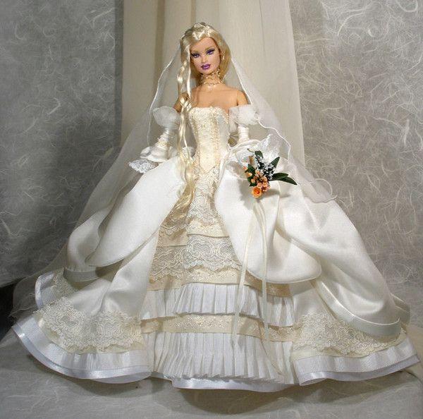 Poupees poupees mariee pinterest barbie mannequin - Barbie mariee ...
