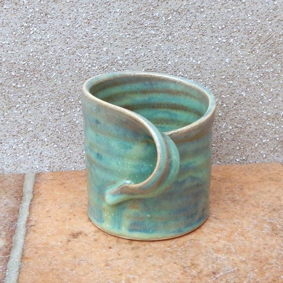 Coffee Mug Tea Cup In Textured Stoneware Ceramic Pottery