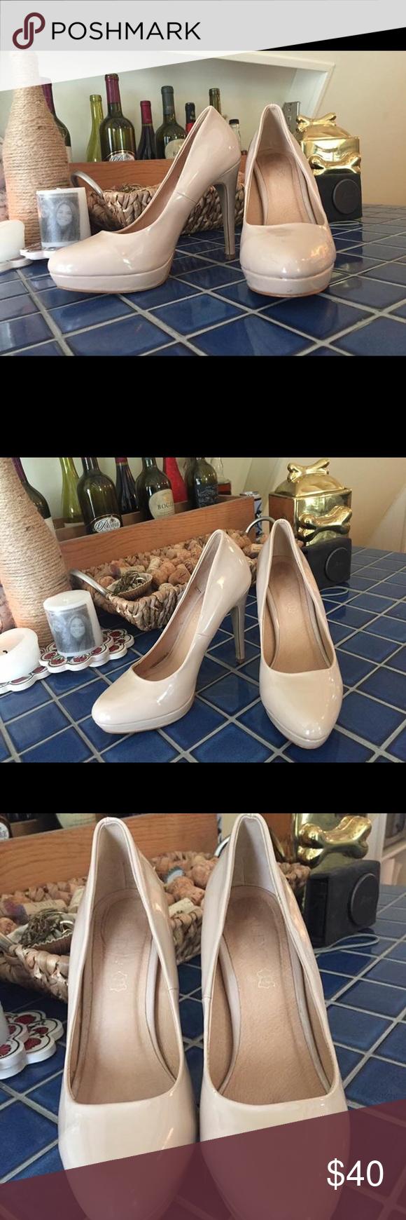 Also Nude Heels Nude heels, worn once, 6.5 Aldo Shoes Heels
