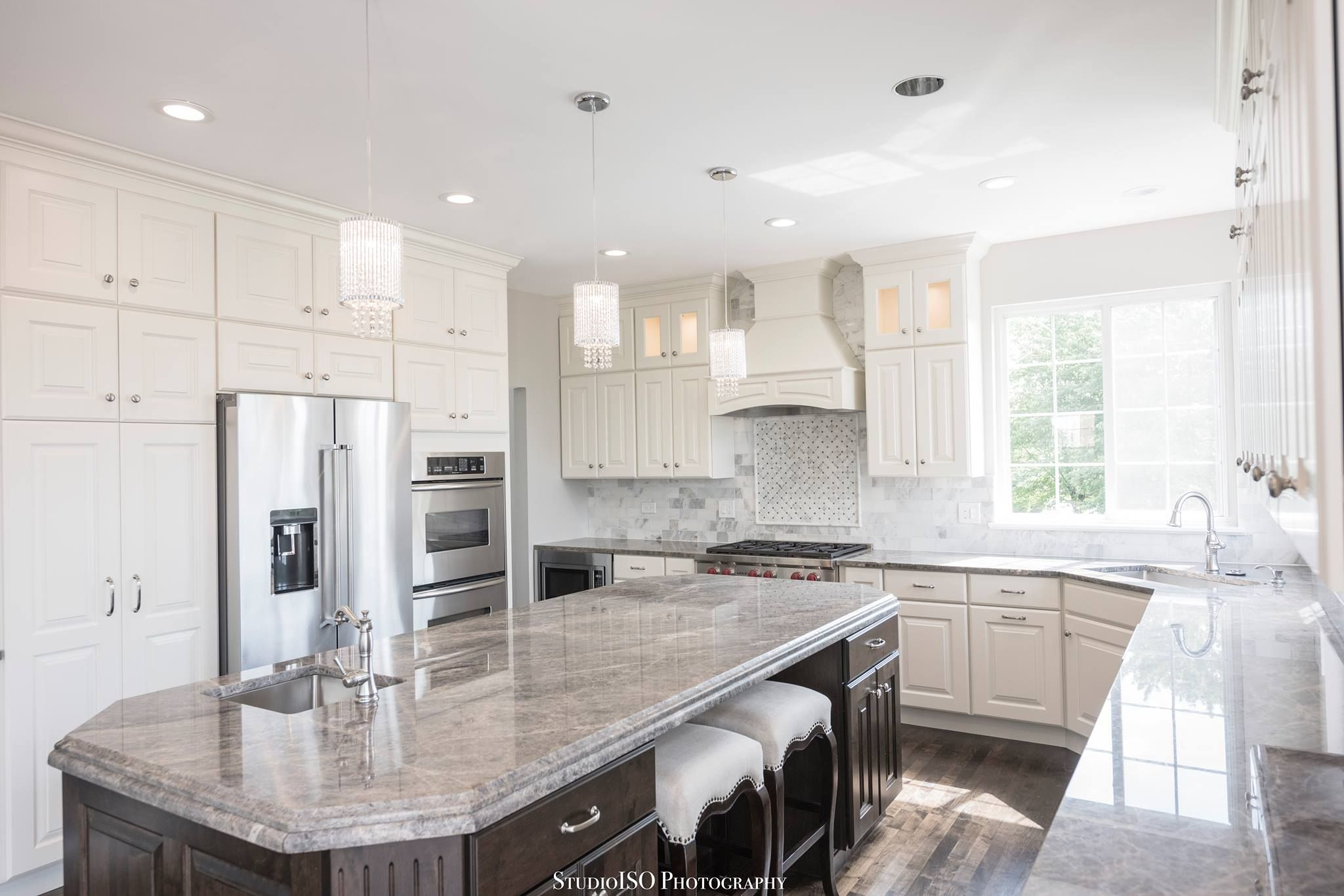 Quartzite Countertops and ebony stained island | Kitchen Inspiration ...