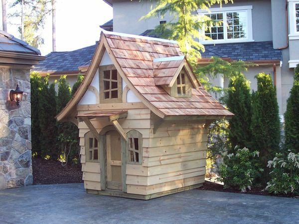 La cabane de jardin pour enfant est une id e superbe pour for Cabane bois de jardin