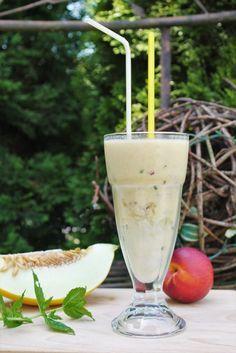 Honigmelone Joghurt Smoothie - www.candbwithandrea.com - Rezept