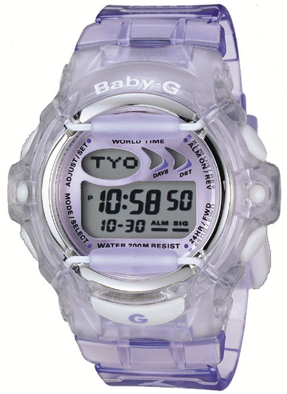 Casio Women S Bg169 6v Baby G Purple Jelly Shock Resistant Sports Watch Casio Baby G Watch Womens Sport Watches 1 Casio G W Baby G Casio Best Kids Watches