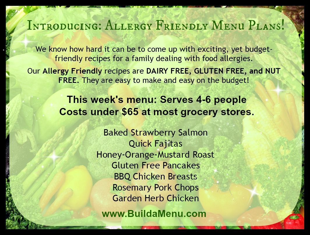 Easy budgetfriendly meal plans for allergy friendly