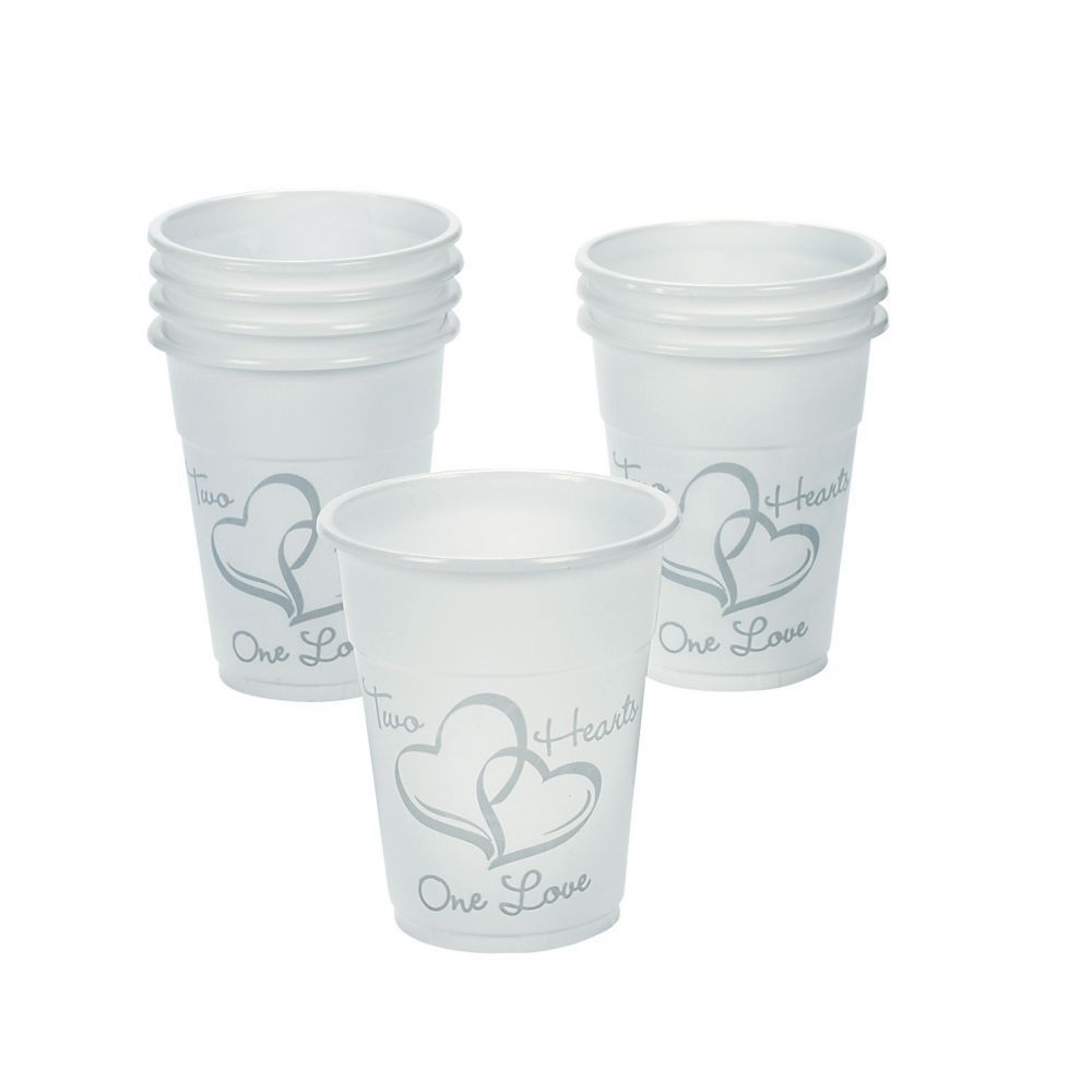 Two Hearts Wedding Disposable Cups | Products