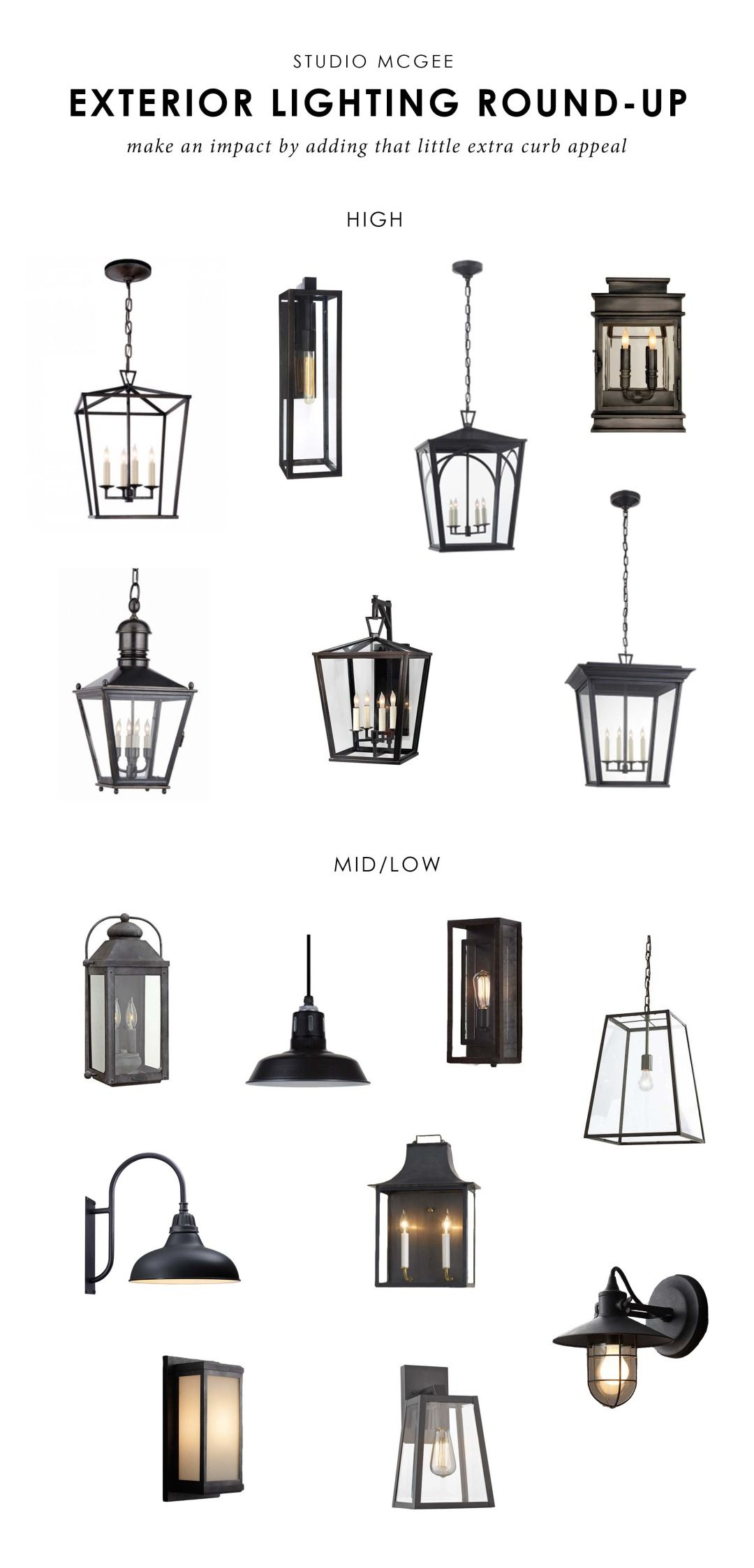 Wonderful Studio McGee | Our Favorite Exterior Lights