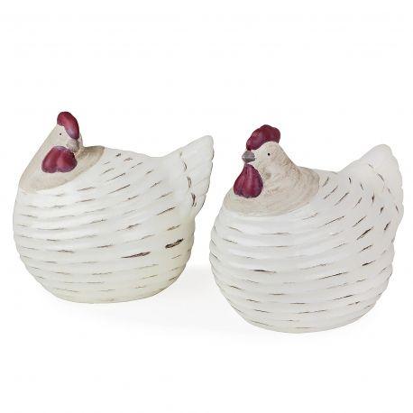 Boughton Terracotta Chicken Ornament Set For Your Garden #chickens # Ornaments #birds #garden