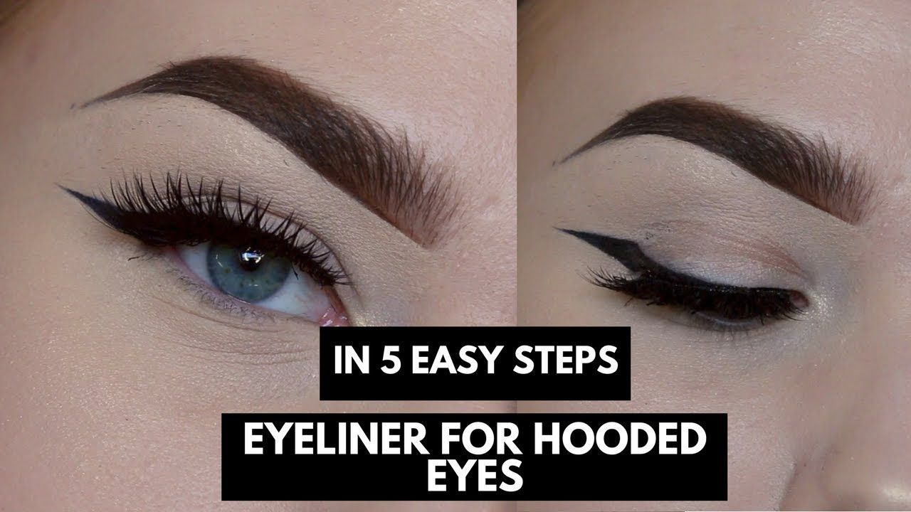 EYELINER FOR HOODED EYES IN FIVE STEPS  Anna Jeanine - YouTube