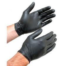 Black Nitrile Powder Free Gloves 5mil 6 59 Per Box Saraglove Com Hair Salon Equipment Nitrile Gloves Gloves