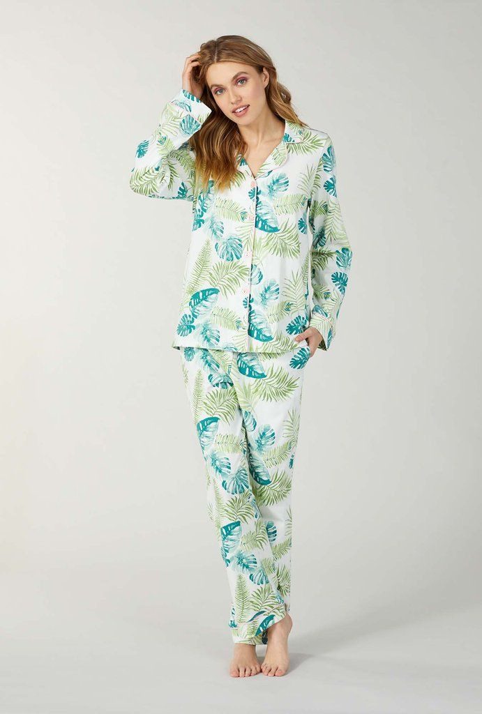 154a7cbc Island Palm Stretch Long Sleeve Classic Pj Set in 2019 | Pyjamas ...