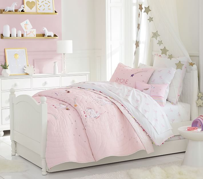 Rainbow Unicorn Quilt In 2019 Unicorn Bedroom Kids