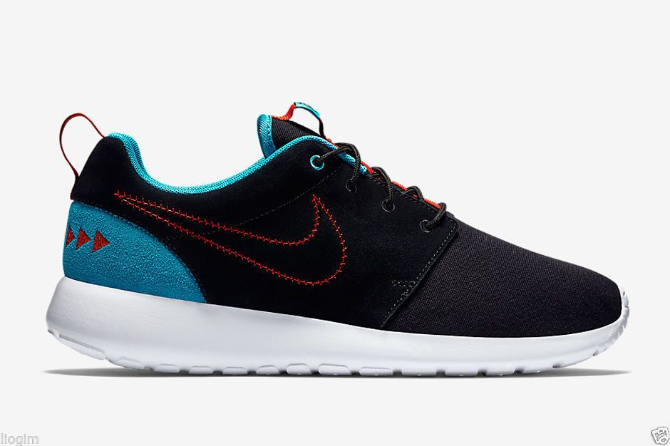 e418d3138d0cd ... coupon nike roshe run n7 mens shoes 13 black turquoise red 746654 004  nike casual bdb1c