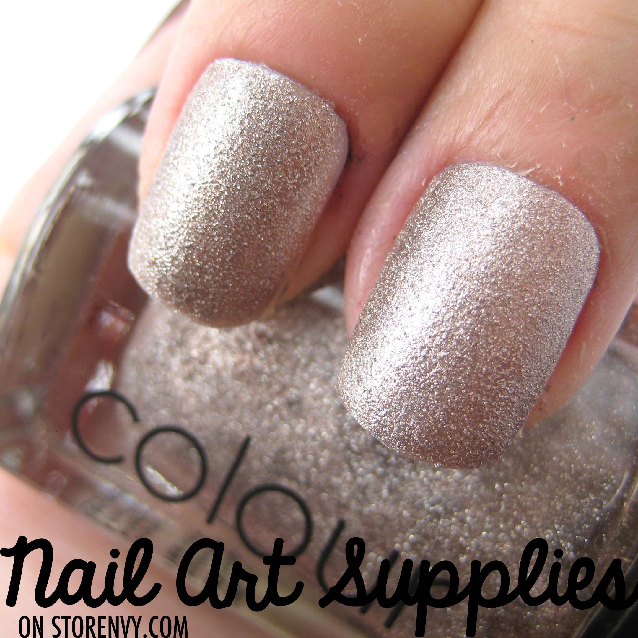 This shimmer nail polish comes in a lovely shade of golden bronze ...