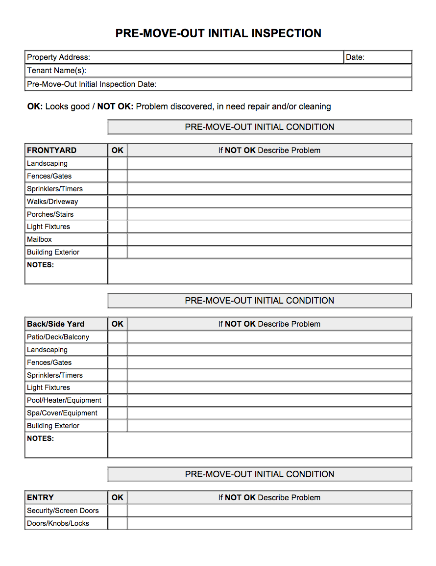 Periodic Inspection Checklist For Rental Units - Resume