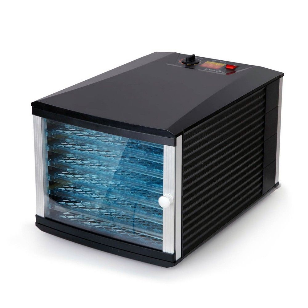 8 tray food dehydrator clear door design for home or