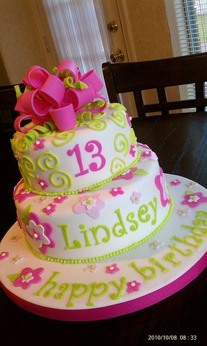 Girly Birthday Cake With Images 13 Birthday Cake Birthday