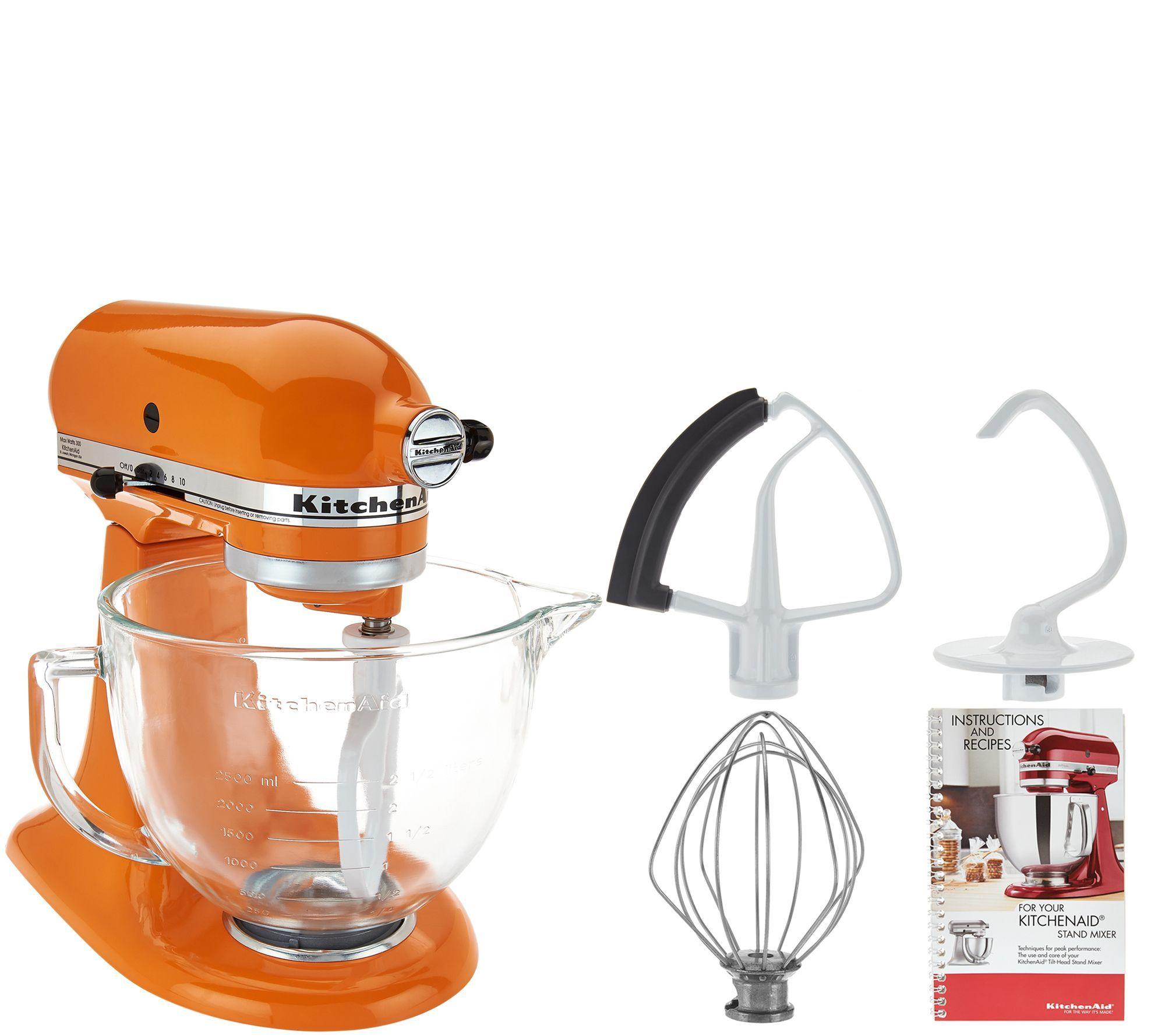 Kitchenaid 5qt 300w tilt head stand mixer wglass bowl