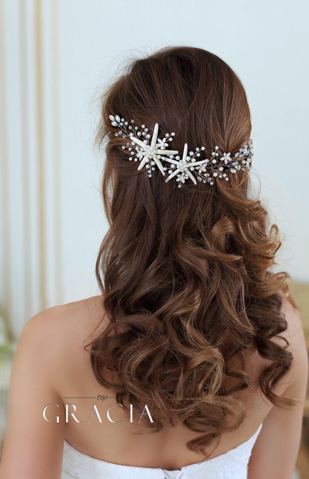 FLOWER /& SWAROVSKI ELEMENT HAIR PIN BRIDE BRIDESMAID CHOOSE YOUR OWN COLOUR