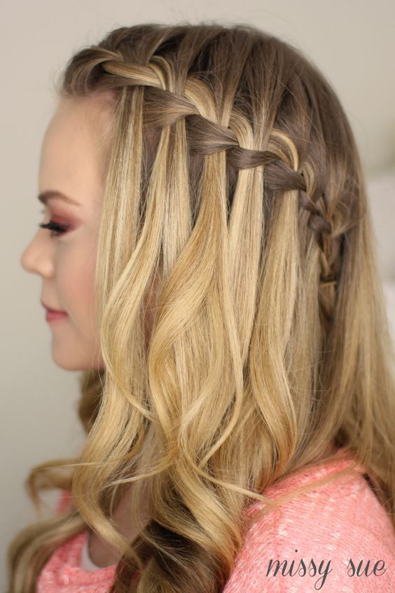 Tutorial Waterfall Braid Half Updo Hair Styles Waterfall Braid Hairstyle Braided Hairstyles