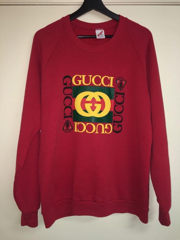 447c139110a VTG Jerzee Bootleg Gucci 80s Print Sweatshirt in 2019