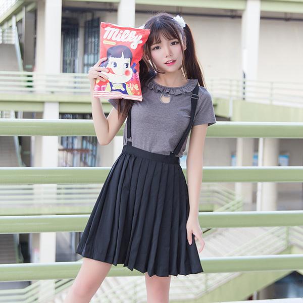 80181d122 Japanese harajuku sweet cute cat T-shirt Pleated braces skirt · Cute Kawaii  {harajuku fashion} · Online Store Powered by Storenvy